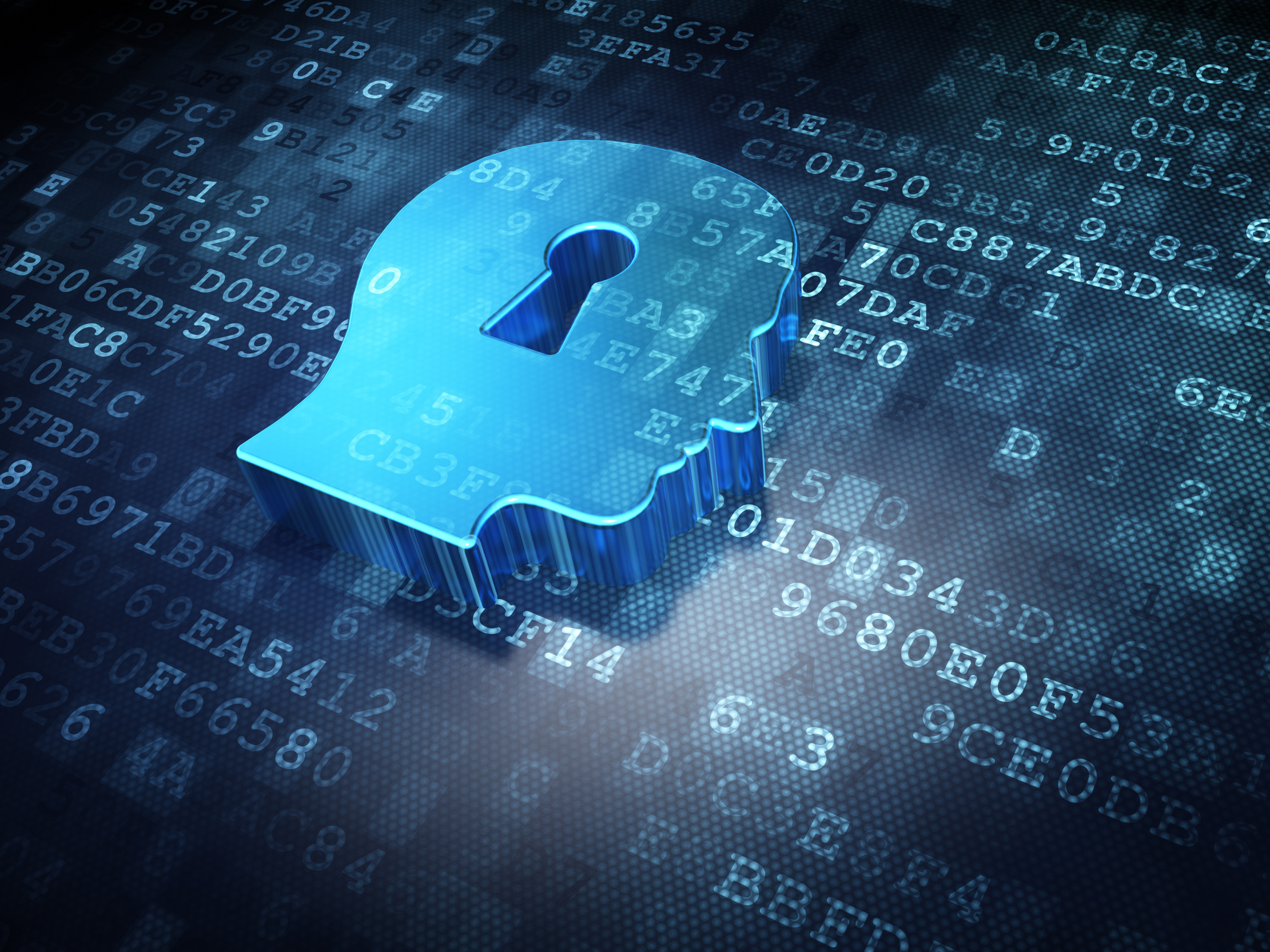 Data Concept Blue Head Whis Keyhole On Digital Background Secureitworld